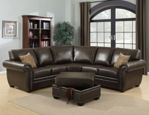 Louis 3 Pc Sectional - Nail Head Trim