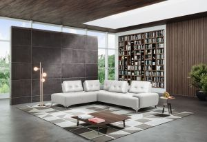 Turano Pearl White Sectional - Made in Italy