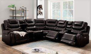 Mariah Power Sectional - Brown or Grey