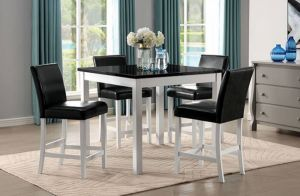 Mathilda 5 Pc Dining Collection - Faux Marble Top