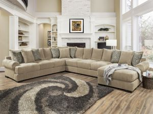 Memphis Over Sized Sectional - 4 Color Choices