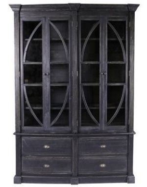 Upton Bookcase - Black Antique or Natural Finish