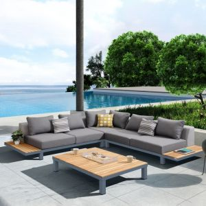 Polo 4 Pc Outdoor Sectional Set - Teak Wood