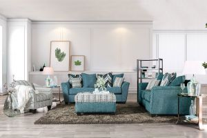 River Sofa Collection - Turquoise Chenille