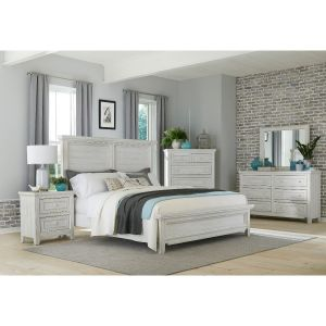 Hampton Bedroom Collection - Weathered White Finish