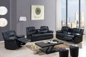 Walker Living Room Motion Sofa Collection - Black