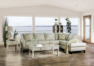 Bridie Sectional Collection - Ivory or Gray