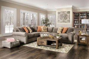 Stapleford Extra Plush Sectional - Gray or Beige Chenille
