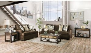 Taliyah Sofa Collection - Brown Chenille Fabric