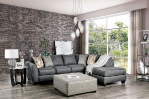 Earl Sectional Collection - Gray Chenille