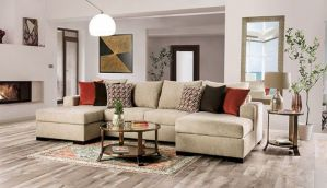 Jayla Transitional Sectional - 2 Chaises