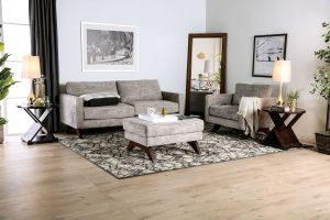 Harlech Sofa Collection - Distressed Gray Chenille