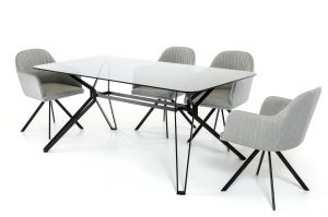 Modrest Synergy Modern Smoked Glass Dining Table Collection