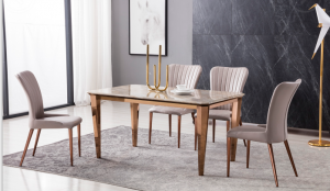 Bonita 7 Pc Dining Collection - Faux Marble
