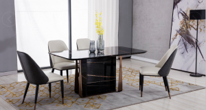 Kimberly Modern Faux Marble Dining Collection