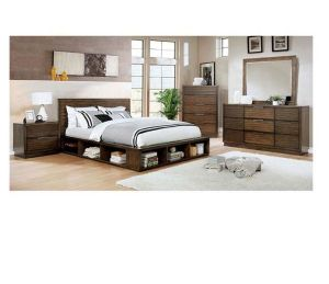Torino Storage Bedroom Collection Walnut Finish