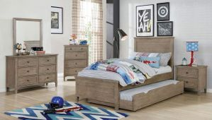 Vevey 4 Pc Bedroom Collection - Warm Grey Finish
