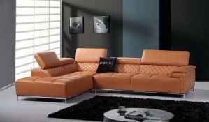 Citadel Modern Sectional - Italian Leather