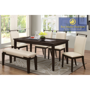 Wyatt 6 Pc Dining Collection - Smoked Glass Center Table