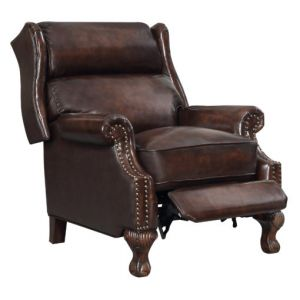 Wyatt Brown Leather Push-Back Recliner