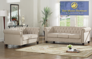 Richmond Sofa Collection - Beige or Klein Charcoal