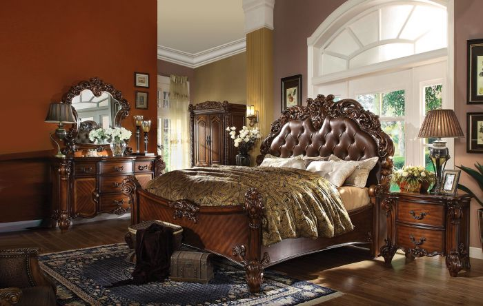 Acme Furniture 22000 Vendome Bedroom Collection Cherry Finish