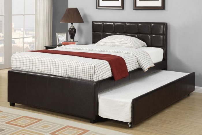 Poundex F9216 Twin Or Full Bed With Trundle