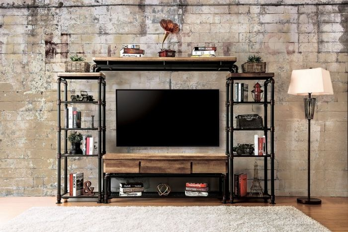 Brand-new Kebbyll CM5813 Industrial Design Entertainment Center - Furniture  JV12