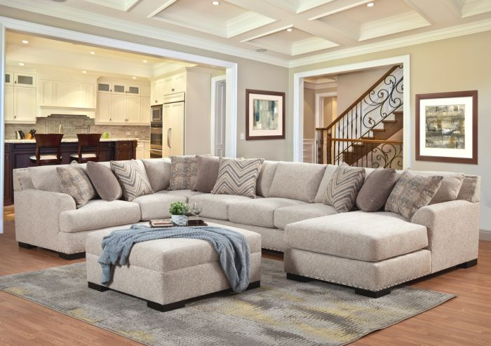 olympia over sized sectional 3 color choices